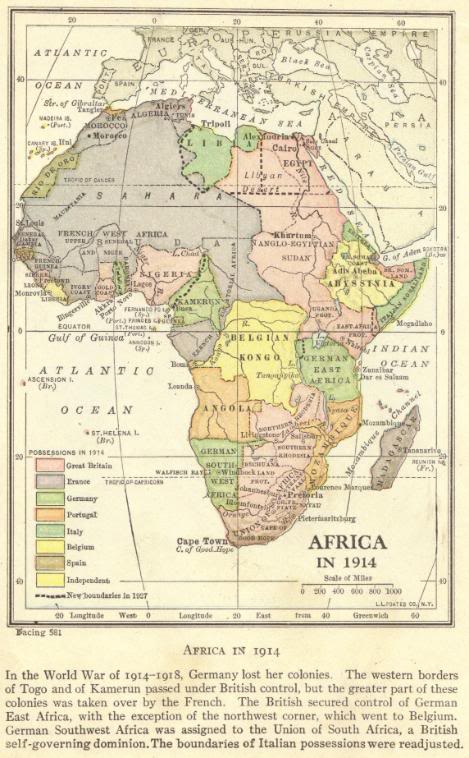 Map Of European Imperialism In Africa 1914 Student Handouts