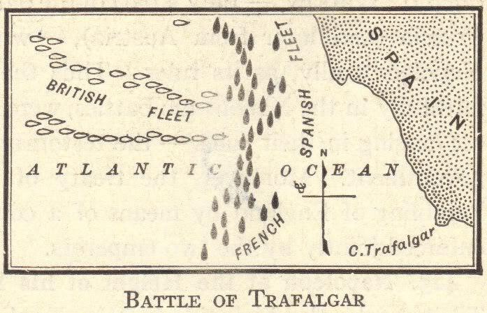 Plan of the Battle of Trafalgar (1805)