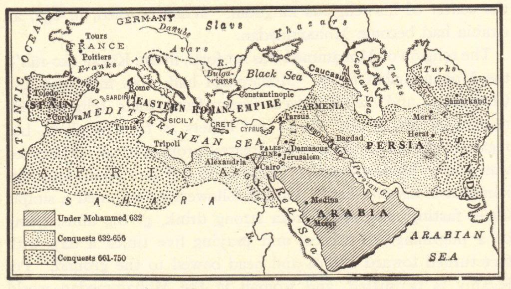 Islamic conquests in africa asia and europe 632 750 ce map quiz base your answers to the questions below on the map and your knowledge of social studies gumiabroncs Image collections
