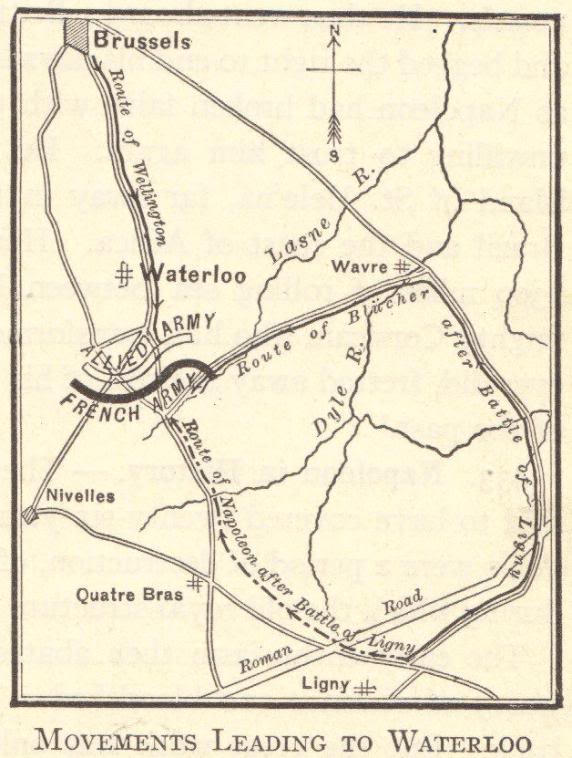 Map of the Battle of Waterloo, 1815
