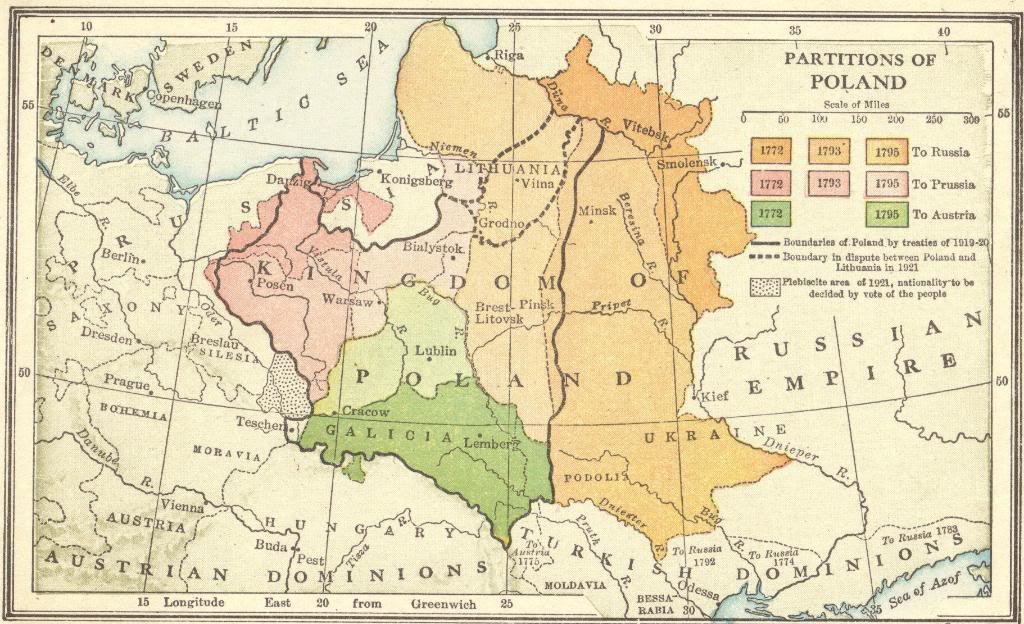 Interactive Map Quiz on the Partitions of Poland for High School World History