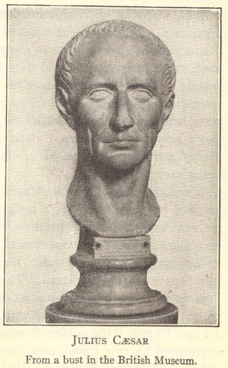 Bust of Julius Caesar of Ancient Rome