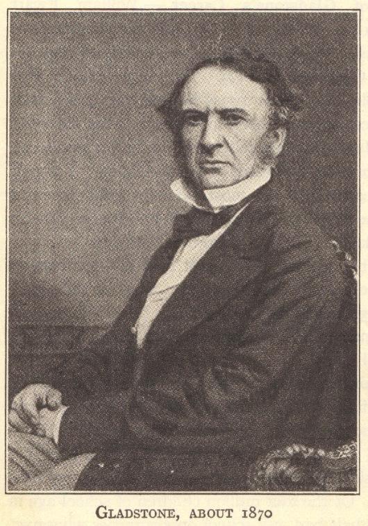 British Prime Minister William Ewart Gladstone, about 1870.
