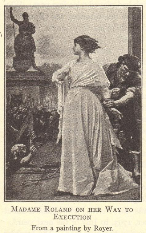 Madame Roland on the way to her execution, 1793.