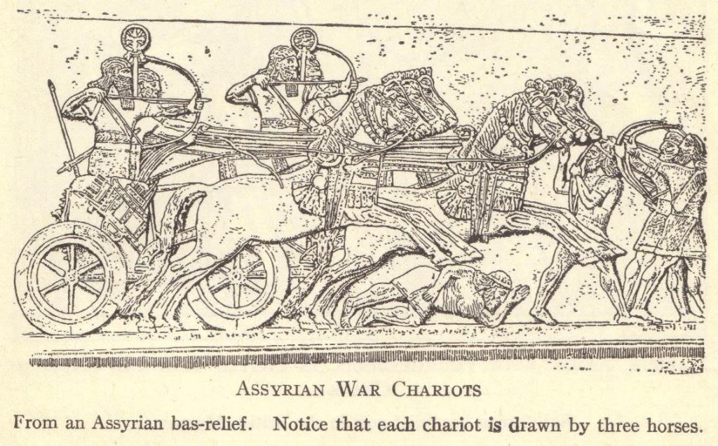 Ancient Assyrian War Chariots