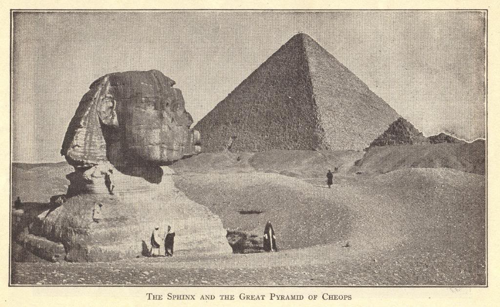 Sphinx and Great Pyramid of Egypt