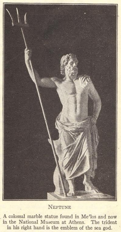 Poseidon or Neptune, God of the Sea