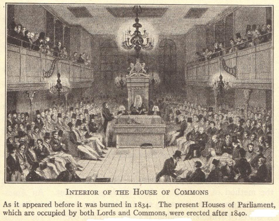Interior of the House of Commons at Westminster Palace