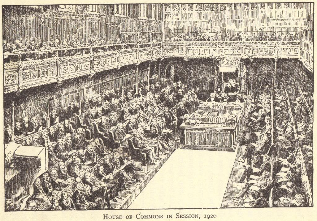 British Parliament - House of Commons, 1920