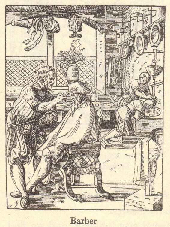 Barber of the Middle Ages