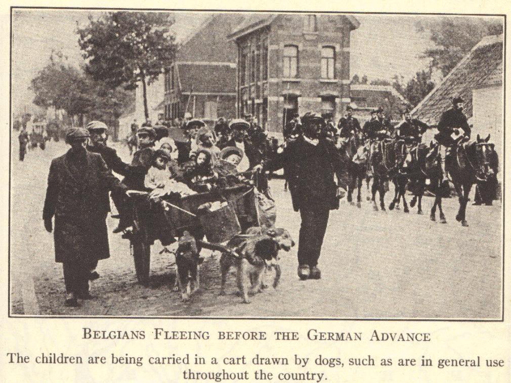 Belgians Fleeing from the Germans (World War I)