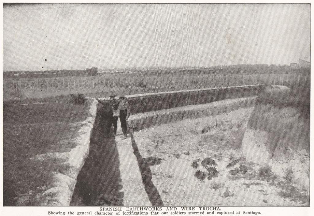 Spanish Earthworks and Wire Trocha at Santiago, Cuba (1898)