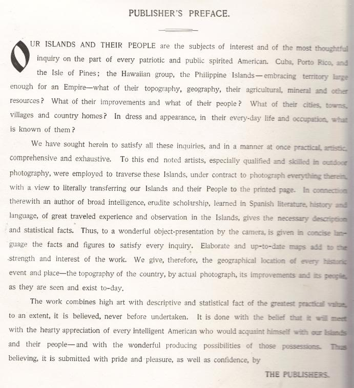 PUBLISHER'S PREFACE Our Islands and Their People 1899