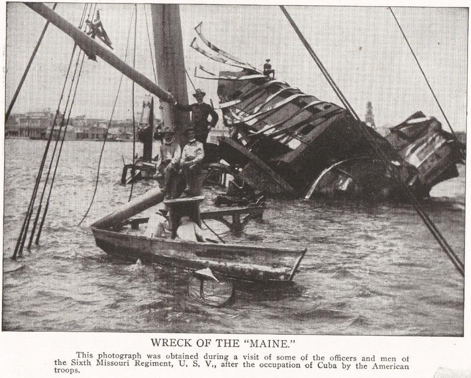 Wreck of the U.S.S. Maine in Cuba, 1898