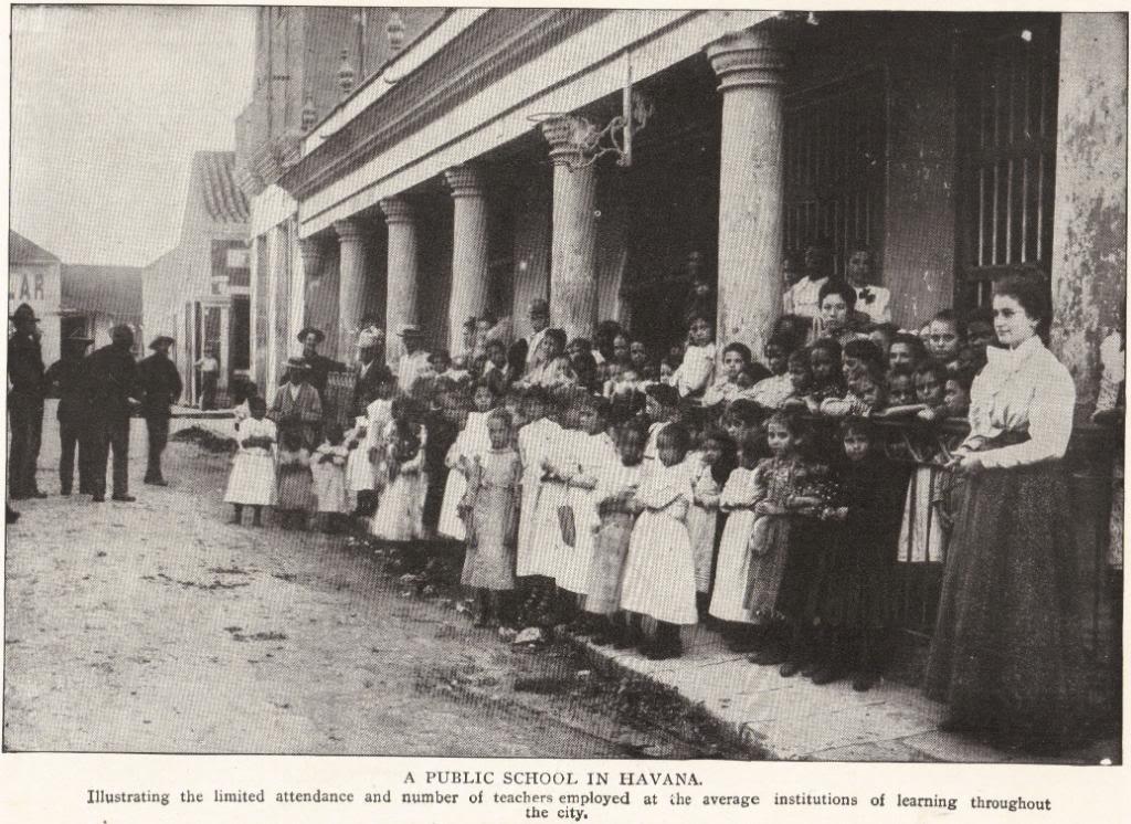 Havana Public School in 1898, Cuba