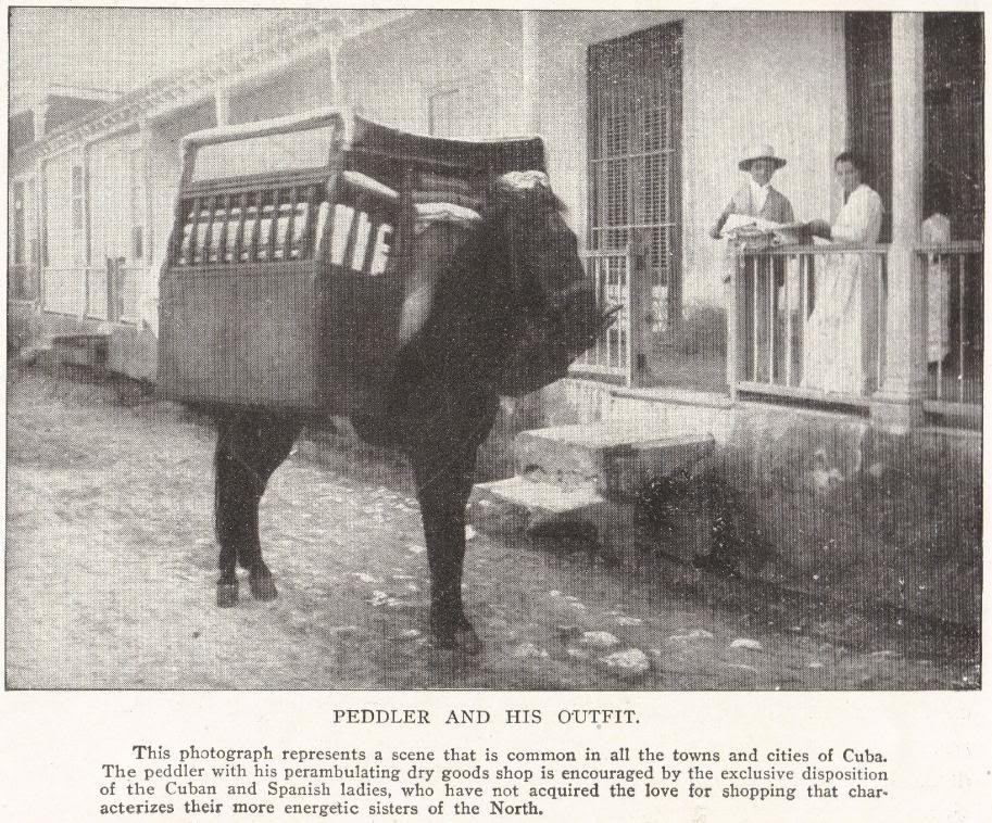 PEDDLER AND HIS OUTFIT (Cuba, 1898)