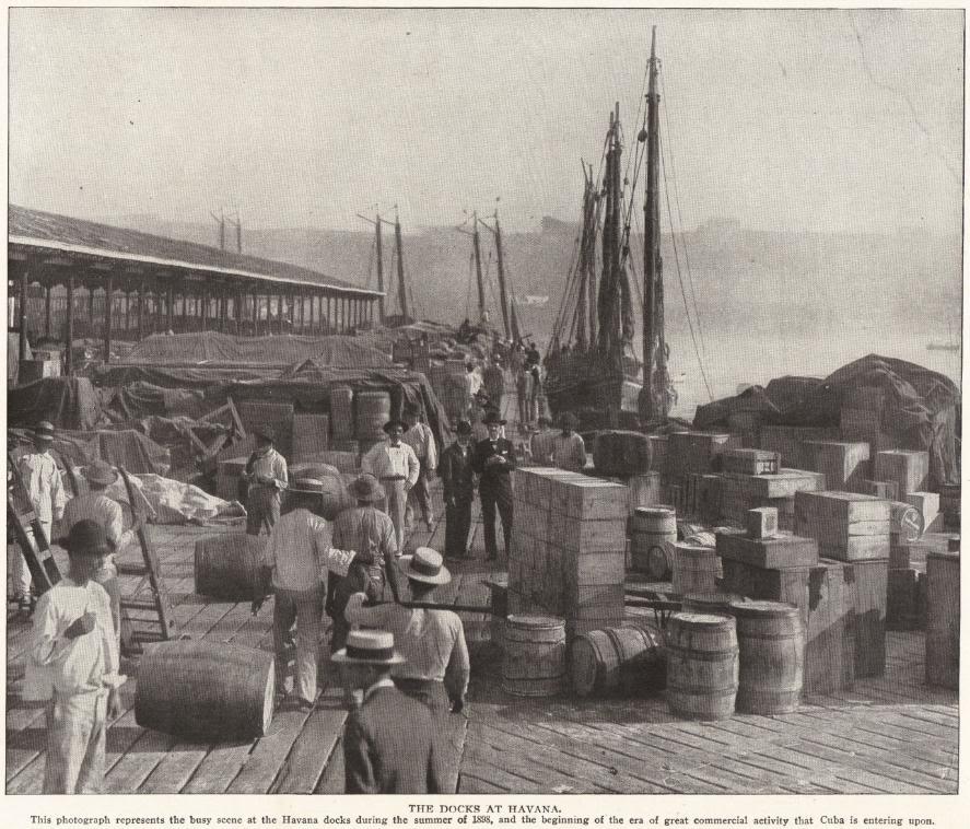 Docks at Havana, Cuba