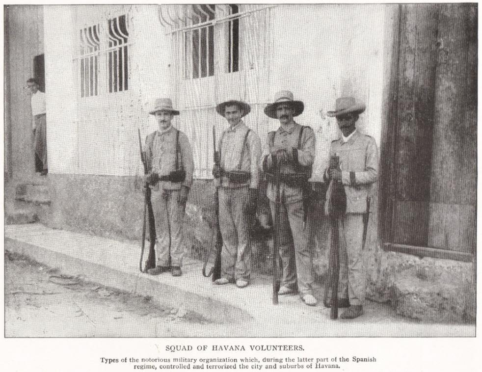 Squad of Havana Volunteers, Cuba (1898)