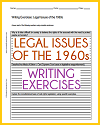 Legal Issues of the 1960s Writing Exercises