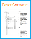 Secular Easter Crossword Puzzle