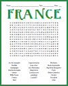 France Word Search Puzzle