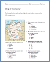 Germany Map Worksheet