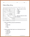 Iraq Political Map Worksheet for World Geography