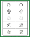 Irish Symbols Memory-style Printable Card Game