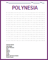 Polynesia Word Search Puzzle