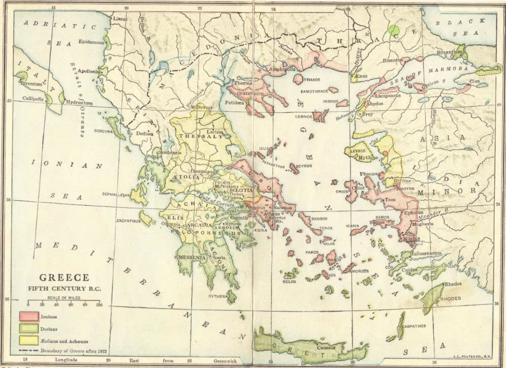 Ancient Greece in the Fifth Century BCE - Interactive Map Quiz ...