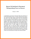 Queen Liliuokalani's Abdication Statement