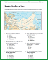 Russia Map Worksheet