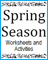 Free Printable Worksheets and Classroom Activities for the Spring Season