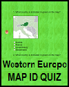 Western Europe Map ID Quiz Game