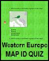 Western Europe Map ID Quiz Game