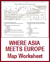 Where Asia Meets Europe Map Worksheet