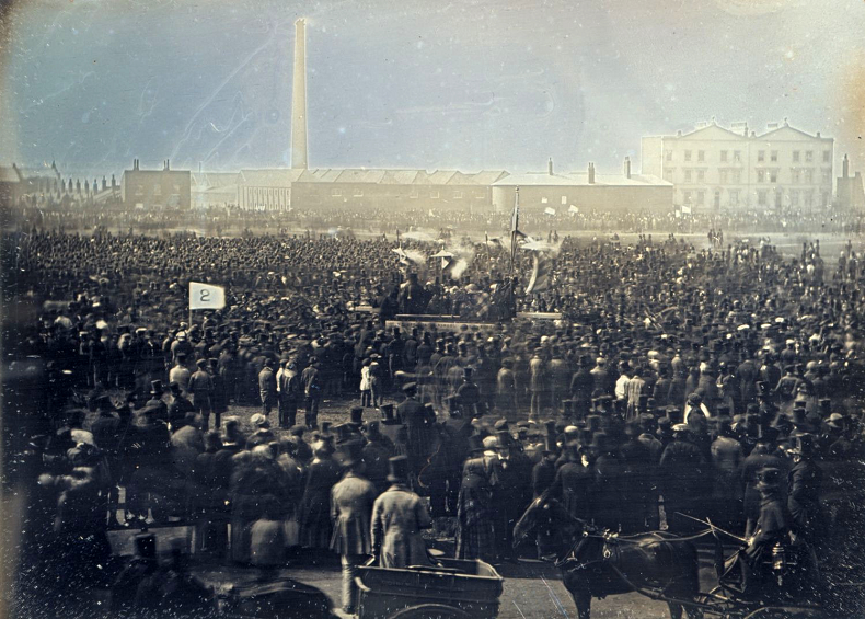 Great Chartist Meeting on April 10, 1848, on Kennington Commons