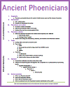Ancient Phoenicians Outline
