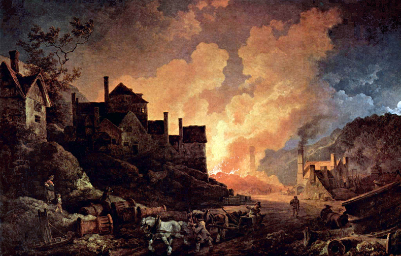 Coalbrookdale by Night (1801) by Philipp Jakob Loutherbourg the Younger