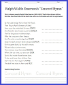 Concord Hymn Poem Unscrambler Worksheet