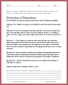 Declaration of Dependence (NCLC, 1913) Child Labor Laws DBQ Worksheet