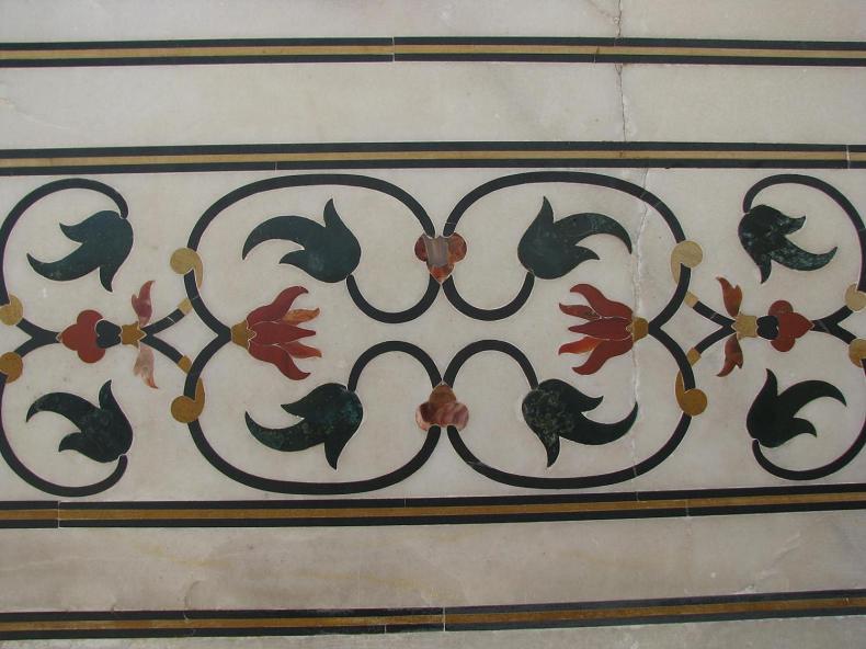 Floral Marble Design at the Taj Mahal