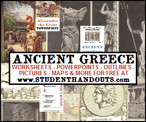 Ancient Greece - Free educational materials for junior and senior high school World History students.