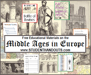 European Middle Ages - Free PowerPoint presentations, outlines, worksheets, and more for K-12 education on medieval Europe.