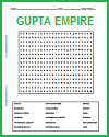 Gupta Empire of India Word Search Puzzle