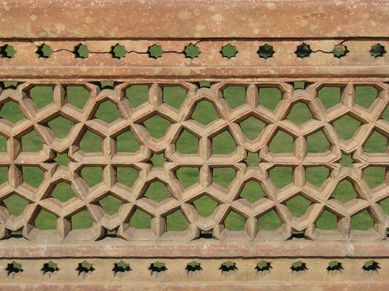 Carvings at Humayun's Tomb in India