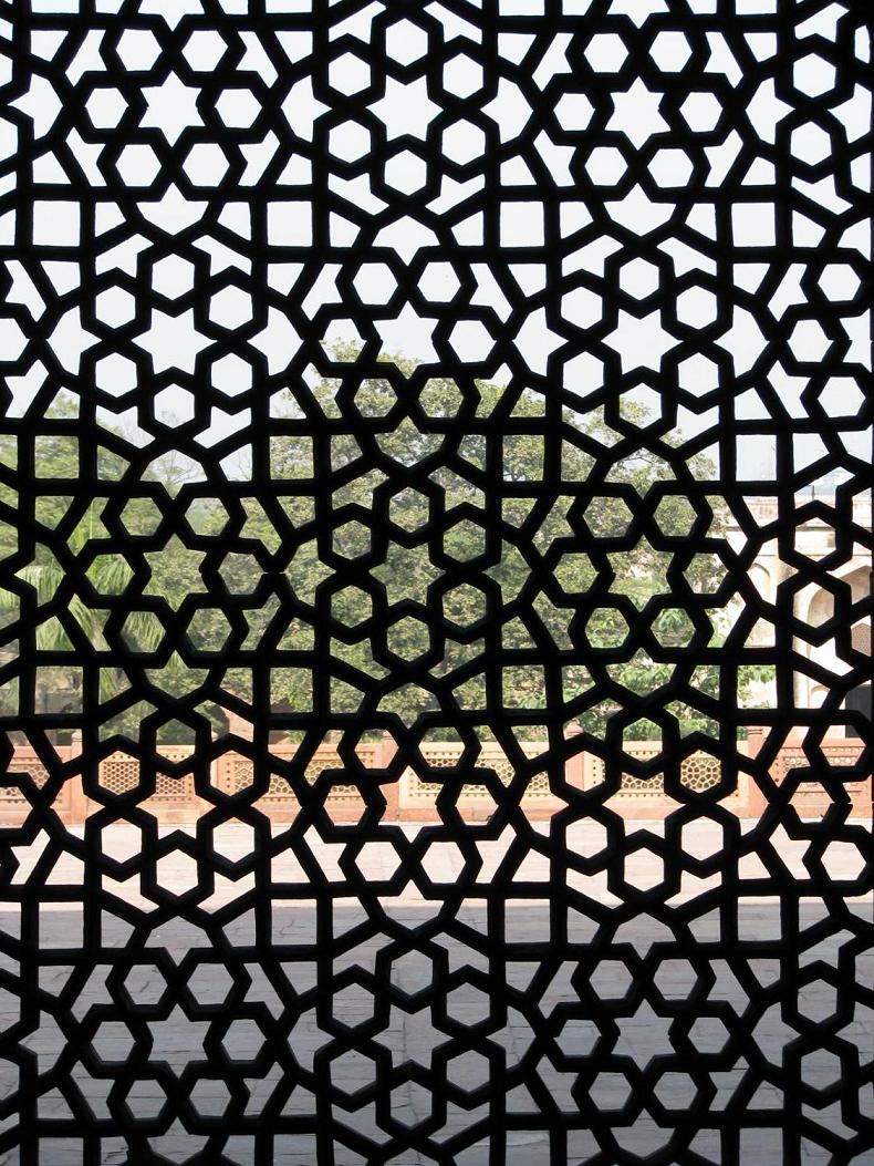 Elaborate Latticework at Humayun's Tomb in India