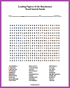 Leading Figures of the Renaissance Word Search