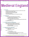 Medieval English History Outline