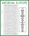 Medieval Europe Word Search Puzzle